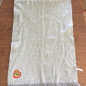 Urban Outfitters Blanket Scarf Grey Fringed NWOT